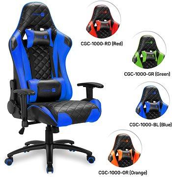 CONNECT IT Escape Pro CGC 1000 BL, kék Gamer szék | Alza.hu