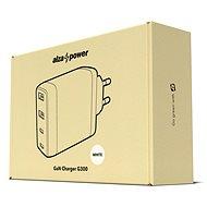 AlzaPower G300 GaN Fast Charge 100W fehér - Hálózati adapter