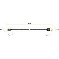 AlzaPower ReversibleCore Micro USB 2m fekete - Adatkábel