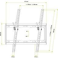AlzaErgo T205B Frame - TV tartó konzol