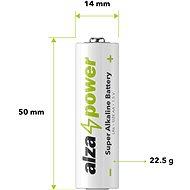 AlzaPower Super Alkaline LR6 (AA), 10 db az öko-dobozban - Eldobható elem