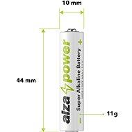 AlzaPower Super Alkaline LR03 (AAA), 20 db öko csomagolásban - Eldobható elem