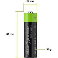 AlzaPower Rechargeable HR6 (AA) 2500 mAh 4 db öko csomagolásban - Akkumulátor