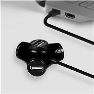 AXAGON HUE-X3B TRINITY fekete - USB Hub