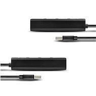 AXAGON HUE-S2BL 4 portos USB 3.0 töltő hub - USB Hub