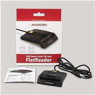 AXAGON CRE-SM3 USB intelligens kártya FlatReader - Elektronikus személyi igazolvány olvasó