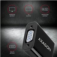 AXAGON RVH-VGN HDMI-VGA átalakító - Átalakító