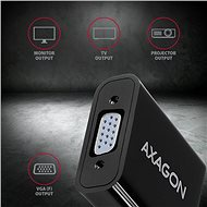 AXAGON RVH-VGAN HDMI-VGA konverter - Átalakító