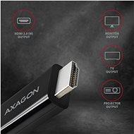 AXAGON RVC-HI2C átalakító USB-C -> HDMI 2.0 - Átalakító