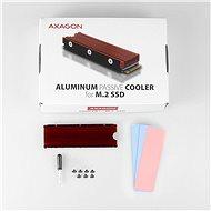 AXAGON CLR-M2 ALU - Merevlemez hűtő