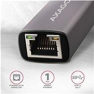 AXAGON ADE-TRC, USB-C>GLAN, Metal Gray - Hálózati kártya