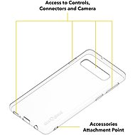 AlzaGuard a Samsung Galaxy S10  készülékhez átlátszó - Telefon hátlap
