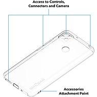 AlzaGuard - Xiaomi Redmi 9C áttetsző - Telefon hátlap