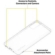 AlzaGuard a Samsung Galaxy S20  készülékhez átlátszó - Telefon hátlap