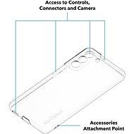 AlzaGuard Crystal Clear TPU Samsung Galaxy S21 5G készülékhez - Telefon hátlap