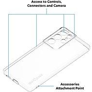 AlzaGuard Crystal Clear TPU Samsung Galaxy S21 Ultra 5G készülékhez - Telefon hátlap