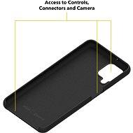 AlzaGuard Premium Liquid Silicone Samsung Galaxy A12 - fekete - Telefon hátlap