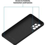 AlzaGuard Premium Liquid Silicone Samsung Galaxy A52 / A52 5G / A52s fekete - Telefon hátlap
