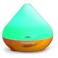 Anjou AJ-AD001 világosbarna fa LED 300 ml - Aroma diffúzor