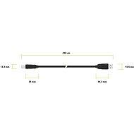 AlzaPower LinkCore USB AB 2m - Adatkábel