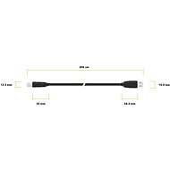 AlzaPower LinkCore USB A-B 3m, fekete - Adatkábel