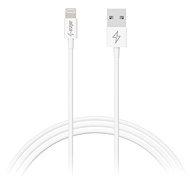 AlzaPower Core Lightning MFi (89) 1 méter, fehér - Adatkábel