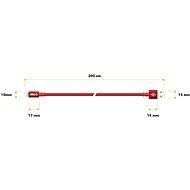 AlzaPower AluCore Lightning MFi 2m, piros - Adatkábel