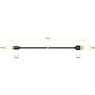 AlzaPower AluCore Micro USB 0,5m Black - Adatkábel