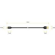 AlzaPower AluCore Micro USB 1m Black - Adatkábel