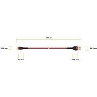 AlzaPower Coral Micro USB, 1m, piros - Adatkábel