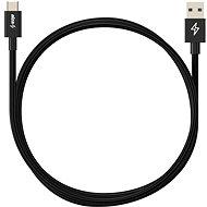 AlzaPower Huawei Super Charge USB-C 3.1, 1m, fekete - Adatkábel