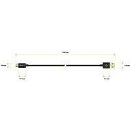 AlzaPower Core Micro USB 1m fekete - Adatkábel