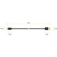 AlzaPower Core Micro USB 2m fekete - Adatkábel