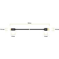 AlzaPower Core Charge 2.0 USB-C 1m fekete - Adatkábel