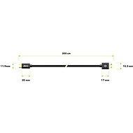 AlzaPower AluCore Charge 2.0 USB-C 3m Black - Adatkábel