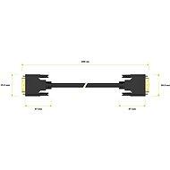 AlzaPower DVI-D - DVI-D Dual Link összekötő kábel, 2 m - Videokábel