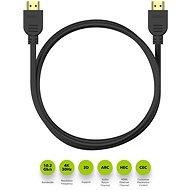 AlzaPower Core HDMI 1.4 High Speed 4K 1m fekete - Videokábel