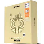 AlzaPower Premium HDMI 2.0 High Speed 4K 3m fehér - Videokábel
