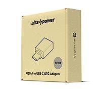 AlzaPower OTG USB-C-ről (M) USB-A 3.0-ra (F), ezüst - Átalakító