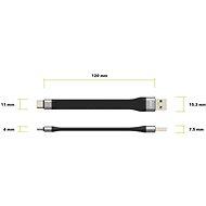 AlzaPower Flex Core USB-C 3.1. Gen 1, fekete - Adatkábel