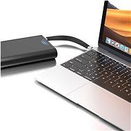 AlzaPower FlexCore USB-C - USB-C 3.2 Gen 2, 5 A, 100 W fekete - Adatkábel