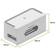 AlzaPower Cable Box Socket szürke - Kábelrendező