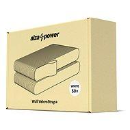 AlzaPower Wall VelcroStrap+ 50pcs fehér - Kábelrendező