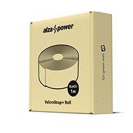 AlzaPower VelcroStrap + Roll 1 m fekete - Kábelrendező