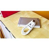 AlzaPower VelcroStrap+ Roll 1 m fehér - Kábelrendező