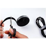 AlzaPower VelcroStrap+ Roll 5m fekete - Kábelrendező