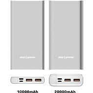 AlzaPower Metal 20000mAh Fast Charge + PD3.0 ezüst - Powerbank