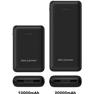AlzaPower Onyx 10000mAh USB-C - fekete - Powerbank
