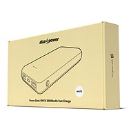 AlzaPower Onyx 20000mAh Fast Charge + PD3.0 - fehér - Powerbank