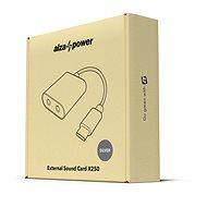 AlzaPower External Sound Card X250 - ezüst - Külső hangkártya